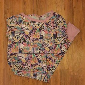 Xhilaration • Purple Patterned Pajama Set